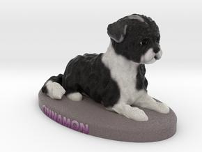 Custom Dog Figurine - Cinnamon in Full Color Sandstone