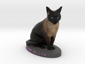 Custom Cat Figurine - Whiskey in Full Color Sandstone