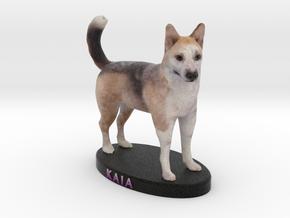 Custom Dog Figurine - Kaia in Full Color Sandstone