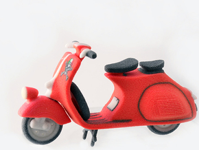 Red Vespa in Full Color Sandstone