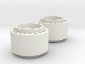 MiniZ F1 Rear Rims in White Natural Versatile Plastic
