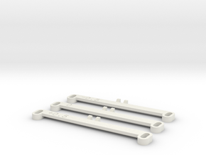 MiniZ F1 Toe Bars in White Natural Versatile Plastic