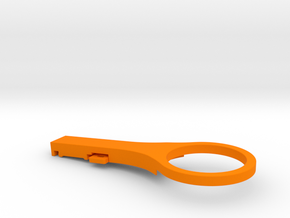 Di2 Junction Mount -5 Deg Thin in Orange Strong & Flexible Polished