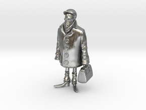 Man holding a suitcase in Natural Silver