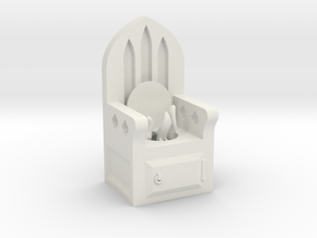 Monster Privy in White Natural Versatile Plastic