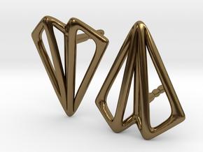 Paper Plane -earrings in Polished Bronze