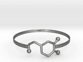 Dopamine Bracelet - small 65mm diameter in Fine Detail Polished Silver