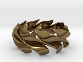 Sunwaves Handmade Ring / Bronze Brass or Silver Ri in Polished Bronze