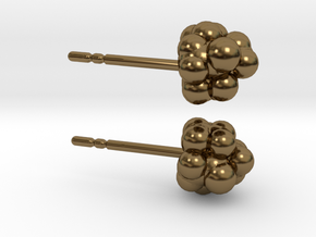 Camphor Earring Studs in Polished Bronze