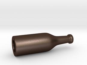 Bender Beer Bottle in Matte Bronze Steel