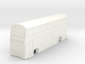 Wright Gemini Bus in British N Gauge 1:148 in White Processed Versatile Plastic