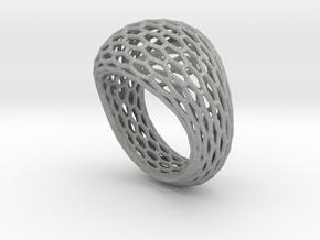 Hexagonal ring size 9 in Aluminum