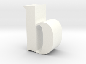 Lowercase B in White Processed Versatile Plastic