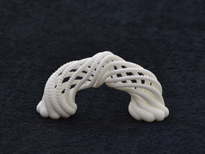 Spinning Arches in White Natural Versatile Plastic
