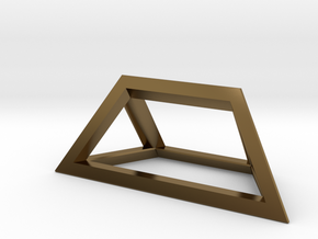 Material Sample - 'Impossible' Pyramid Puzzle Piec in Polished Bronze