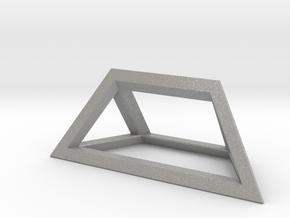 Material Sample - 'Impossible' Pyramid Puzzle Piec in Aluminum
