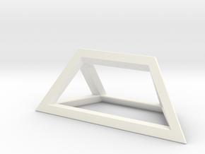 Material Sample - 'Impossible' Pyramid Puzzle Piec in White Processed Versatile Plastic