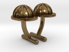Hard Hat Cufflinks #1 in Polished Bronze
