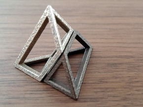 Material Sample - 'Impossible' Pyramid Puzzle Piec in Stainless Steel