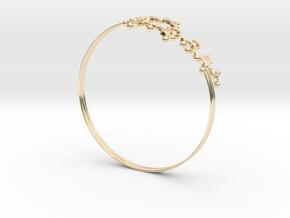 Oxytocin Bracelet 75mm Embossed in 14k Gold Plated Brass