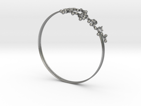 Oxytocin Bracelet 65mm in Natural Silver