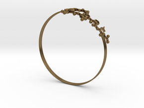 Oxytocin Bracelet 65mm in Polished Bronze