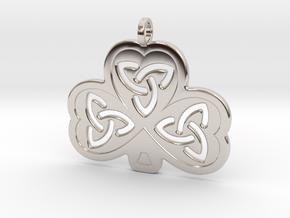 Celtic Shamrock in Platinum