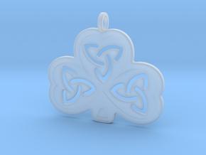 Celtic Shamrock in Smooth Fine Detail Plastic