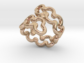 Jagged Ring 21 - Italian Size 21 in 14k Rose Gold Plated Brass