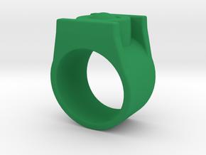 Green Lantern Ring 9 in Green Processed Versatile Plastic