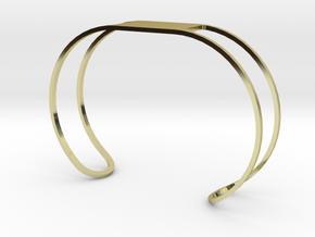 Custom Bracelet 40mm X 30mm Wire in 18k Gold Plated Brass