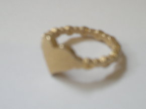 My beautiful heart Ring Size 8 in Polished Gold Steel
