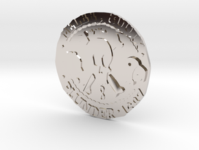 Monkey Island 3 | Verb Coin in Rhodium Plated Brass