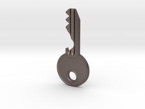 Bottle Opener Keys in Polished Bronzed Silver Steel