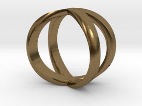 Infinity Ring / infinite Symbol Ring / Infinity si in Natural Bronze