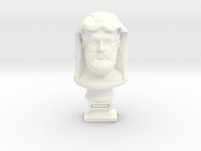 Hercules bust in White Processed Versatile Plastic