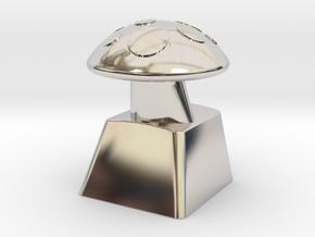 MushroomCap Artisan Cherry Keycap in Platinum