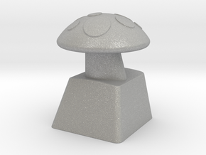 MushroomCap Artisan Cherry Keycap in Raw Aluminum