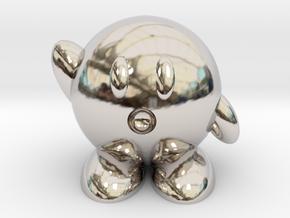 Kirby in Rhodium Plated Brass