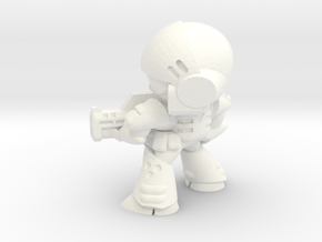 MERC SOLDIER-004 (FIRING) in White Strong & Flexible Polished