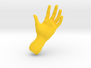 The Hidden Hand in Yellow Strong & Flexible Polished