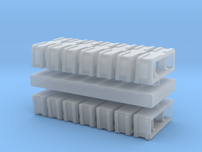 1:96 scale Rolling Bitts - Set of 12 in Smooth Fine Detail Plastic