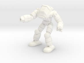 Neo Battlesuit Pose 2 in White Processed Versatile Plastic
