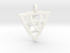 TRI-VECTOR SQUEEZE in White Processed Versatile Plastic
