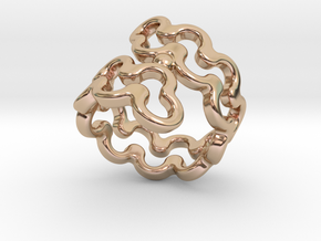 Jagged Ring 29 - Italian Size 29 in 14k Rose Gold Plated