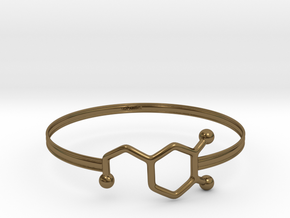 Dopamine Bracelet - Medium - 70mm diameter in Polished Bronze