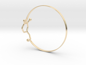 Dopamine Bangle Bracelet: Large: 75mm diameter in 14K Yellow Gold