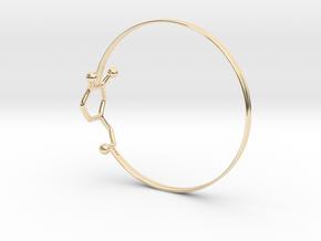 Dopamine Bangle Bracelet: Large: 75mm diameter in 14K Yellow Gold