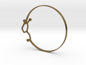 Dopamine Bangle Bracelet: Large: 75mm diameter in Polished Bronze