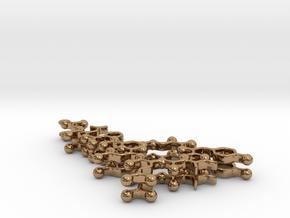 Oxytocin Earrings - Planar Version in Polished Brass